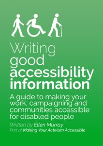 Cover of Writing good accessibility information